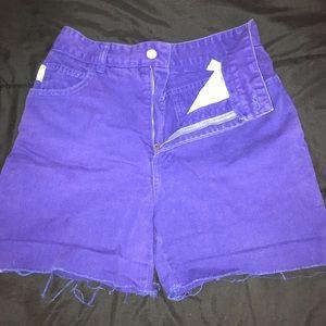 Bright blue denim Bongo shorts
